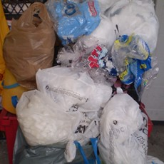 plastic bag pile
